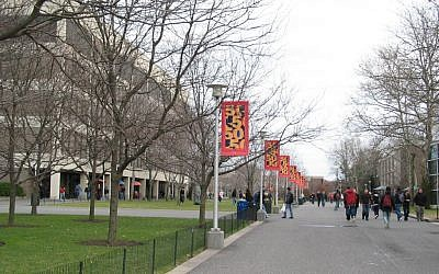 The main alley of the SUNY Stony Brook Campus in New York. (CC BY-SA 3.0 GK tramrunner229/Wikipedia)