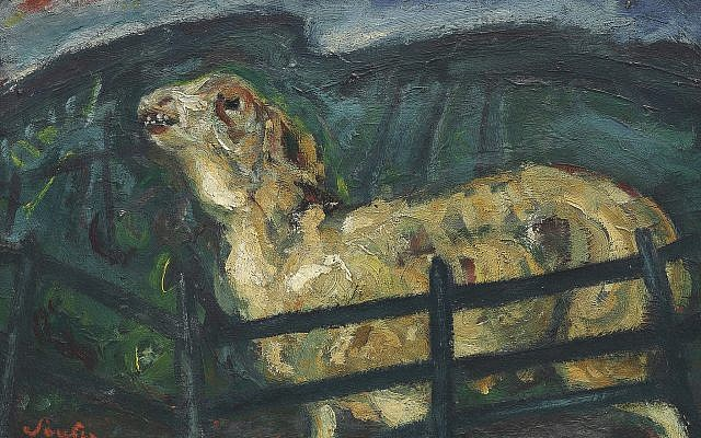 Chaim Soutine, 'Sheep Behind a Fence.' (Courtesy Jewish Museum)