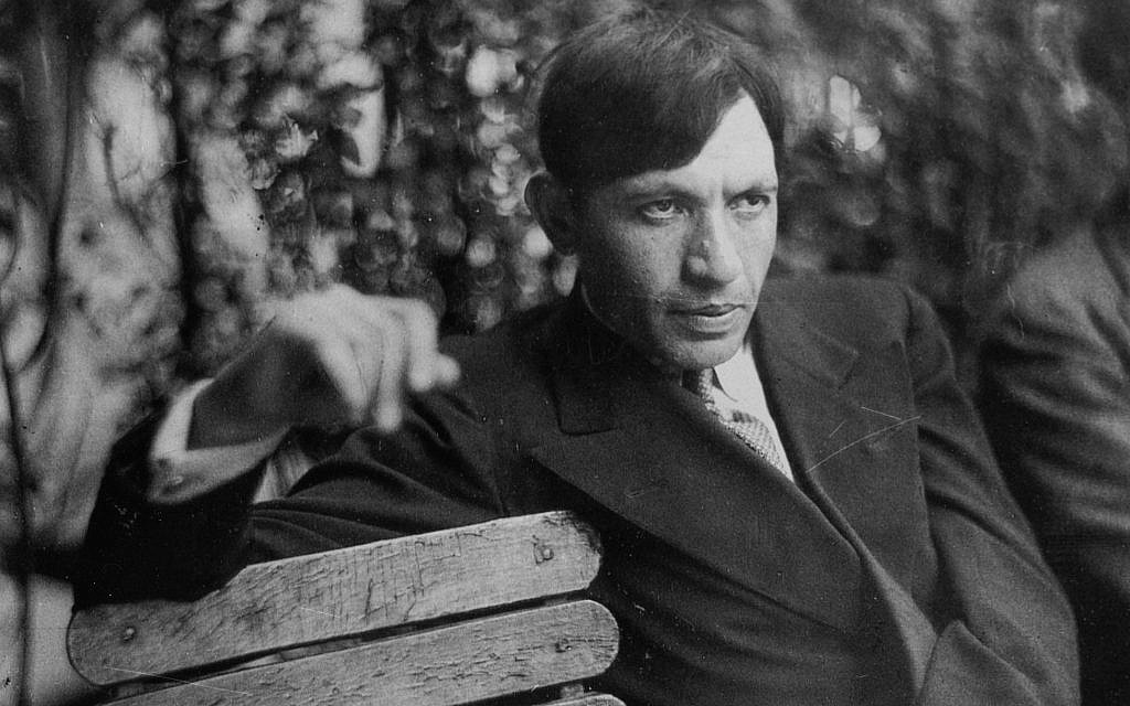 Painter Chaim Soutine on a park bench. (Courtesy Jewish Museum)