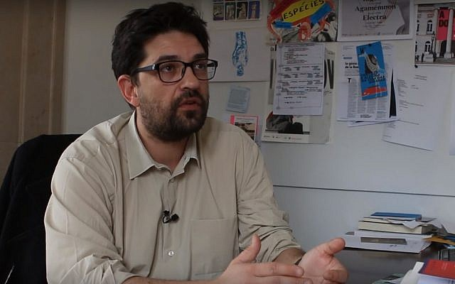 Portuguese theater director Tiago Rodrigues (YouTube screenshot)