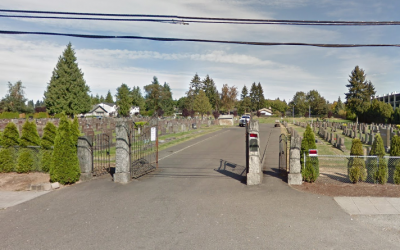 The Bikur Cholim Jewish cemetery in Seattle, United States. (Screen capture: Google Street View)