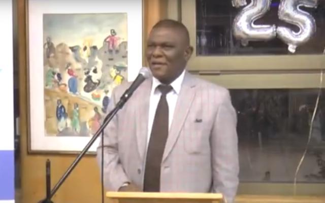 South African Ambassador to Israel, Sisa Ngombane. (Screen capture: YouTube)