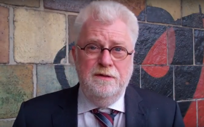 Jan Keulen, director of Dutch pro-Palestinian group The Rights Forum, in 2013. (Screen capture: YouTube)