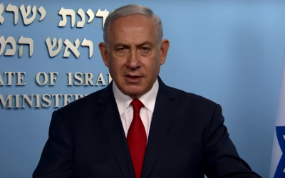 Prime Minister Benjamin Netanyahu in a video published by his office on May 10, 2018. (Screen capture: YouTube)