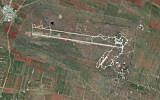 The al-Qusayr military air base in western Syria. (Google Earth)