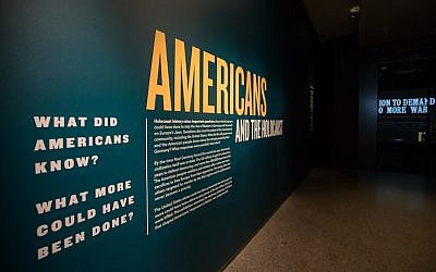 The 'Americans and the Holocaust' exhibition is on display at the US Holocaust Memorial Museum in Washington, DC. The exhibit explores the decisions made by the US government, the news media, Hollywood and individuals in response to Nazism (US Holocaust Memorial Museum)