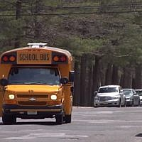 Illustrative: A schoolbus in Lakewood, New Jersey (YouTube screenshot/NJTV News)