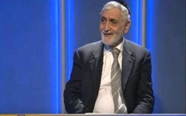 Venice's chief rabbi, Scialom Bahbout (YouTube screenshot)