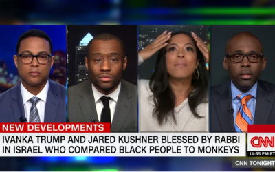 CNN panelists discuss a meeting Ivanka Trump and Jared Kushner had with Israel's Sephardic Chief Rabbi Yitzhak Yosef, May 16, 2018. (Screen capture: YouTube)
