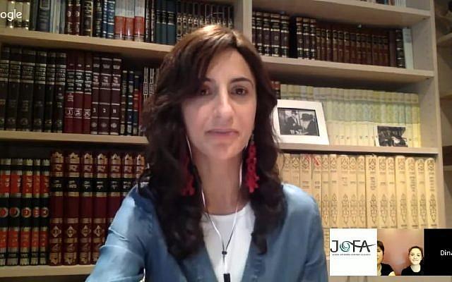 Britain's first Orthodox female rabbi, Dina Brawer (Screen capture: YouTube)