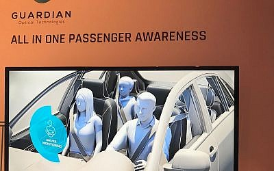 Israeli startup Guardian has developed a car sensor that it says is capable of saving lives of infants accidentally left in cars by detecting the smallest heartbeat (Shoshanna Solomon/The Times of Israel)