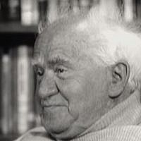 "Israel's first prime minister, David Ben-Gurion, in a  rediscovered 1968 interview featured in the movie ""Ben Gurion, Epilogue.""  (YouTube screenshot)"