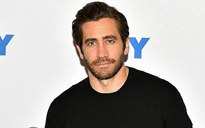 Jake Gyllenhaal at a talk at the 92nd Street Y in New York City, November 19, 2017. (Dia Dipasupil/Getty Images via JTA)