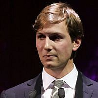 Jared Kushner speaking in New York City, Nov. 18, 2010 (Neilson Barnard/Getty Images for FINCA via JTA)