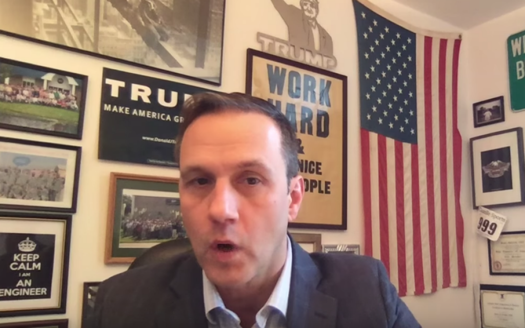 Paul Nehlen, a candidate for Paul Ryan's House seat in Wisconsin (Screenshot from YouTube/JTA)