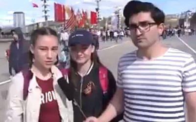 A still from Nijat Safarli's Holocaust video, May 2018 (Screenshot)