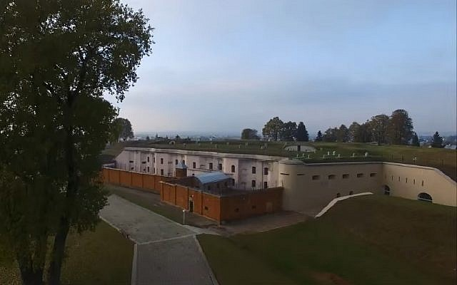 Lithuania's Ninth Fort, a 19th century bunker complex that the Nazis and their helpers turned into a camp and execution area. (Screen capture: YouTube)