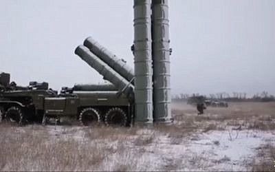 Russian S-500 missile being prepared for testing. (Screen capture: YouTube)