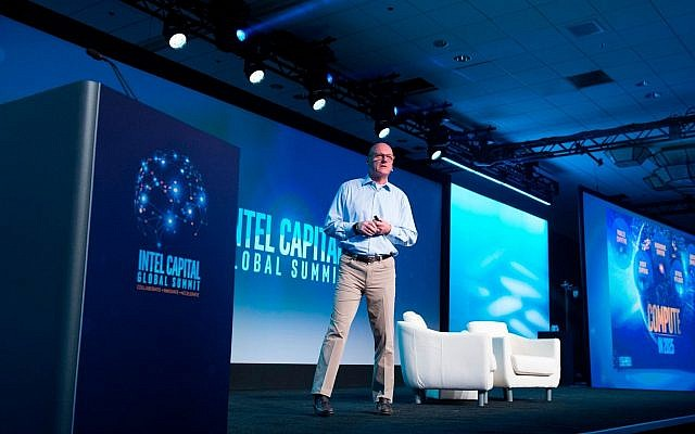 Wendell Brooks, the senior vice president of Intel Corp. and president of Intel Capital, speaking at the Intel Capital Global Summit, May 8, 2018 (Courtesy)
