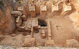 Ancient Byzantine-era winepress discovered in Zippori National Park. (Zvika Tzuk/National Parks Authority)
