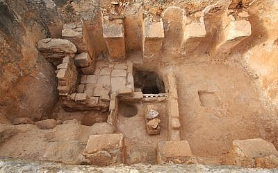 Ancient Byzantine-era winepress discovered in Zippori National Park. (Zvika Tzuk/National Parks Authority)