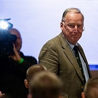 "Federal spokesman of the far-right party Alternative for Germany (AfD) Alexander Gauland attends the party congress of the party's youth party ""Junge Alternative"" in Seebach, eastern Germany, on June 2, 2018.