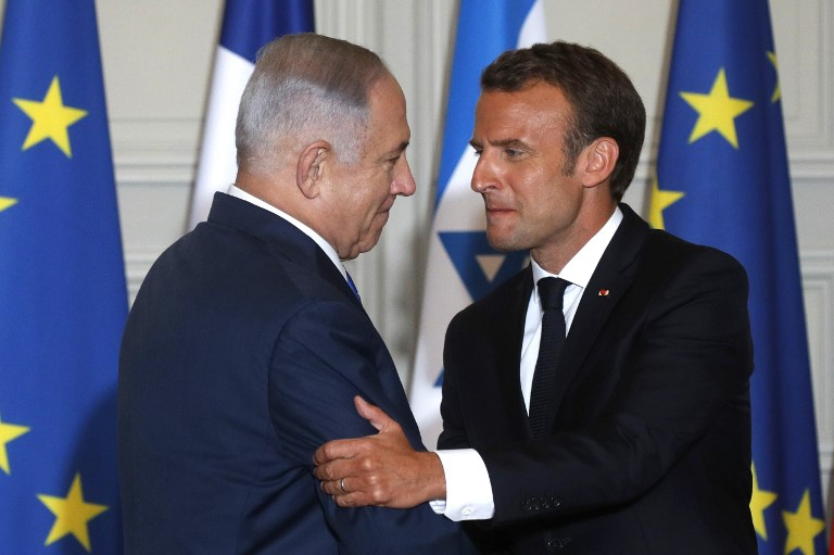 Macron Congratulates Netanyahu On Election Win Says He Hopes Pm Will Seek Peace The Times Of Israel
