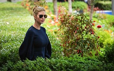 Ivanka Trump arrives for a joint press conference between US President Donald Trump and Japan's Prime Minister Shinzo Abe in the Rose Garden of the White House on June 7, 2018 in Washington, DC.( AFP PHOTO / MANDEL NGAN)
