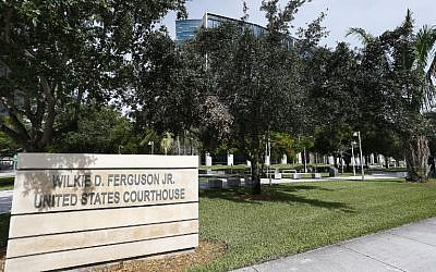 A general view of the Wilkie D. Ferguson Jr. US Federal Courthouse as seen in Miami, Florida on June 12, 2018. (RHONA WISE/AFP)