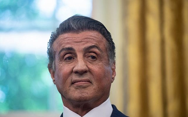 In this file photo taken on May 24, 2018, US actor Sylvester Stallone looks on before the US president signed a posthumous pardon for former world champion boxer Jack Johnson in the Oval Office at the White House in Washington, DC. (AFP PHOTO / NICHOLAS KAMM)