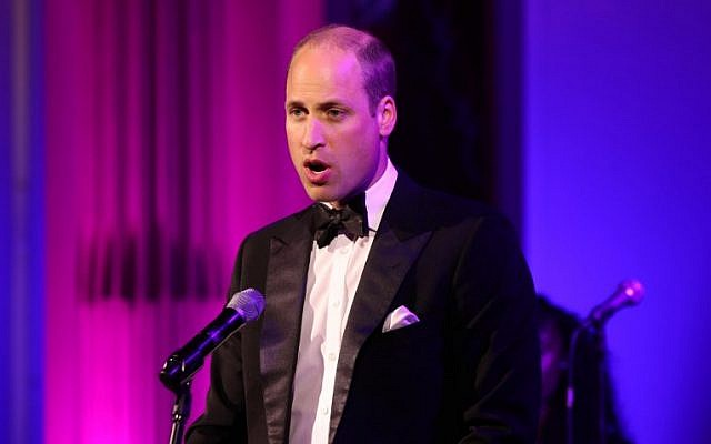 Britain's Prince William, Duke of Cambridge, at a reception for the Royal Marsden NHS Foundation Trust at Buckingham Palace, London, on June 14, 2018. (Yui Mok/AFP)