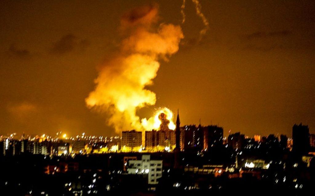 Palestinians fire 5 rockets at south as IDF strikes Gaza