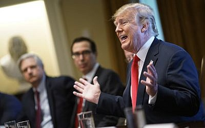 US President Donald Trump speaks on immigration during a meeting with members of Congress at the White House on June 20, 2018. (AFP Photo/Mandel Ngan)