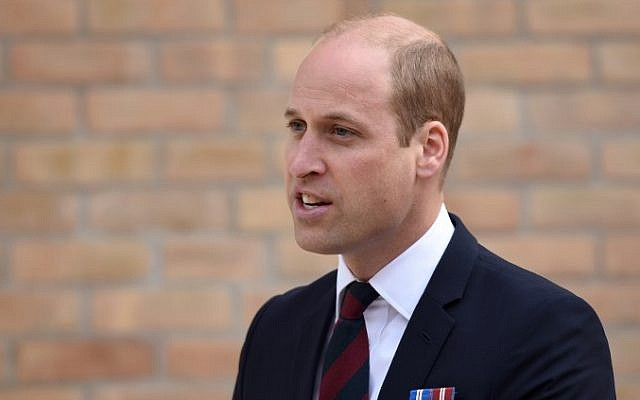 Britain's Prince William, Duke of Cambridge speaks in Nottinghamshire on June 21, 2018. (AFP/Pool/Oli Scarff)