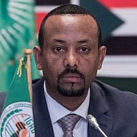 Ethiopia's Prime Minister Abiy Ahmed attends the 32nd Extraordinary Summit of Intergovernmental Authority on Development (IGAD) in Addis Ababa on June 21, 2018. (AFP Photo/Yonas Tadesse)