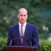 Britain's Prince William gives a speech during a birthday party in honor of his grandmother, Queen Elizabeth II, at the residence of the British ambassador in the Jordanian capital Amman on 24 June, 2018. (AFP PHOTO / AHMAD ABDO)
