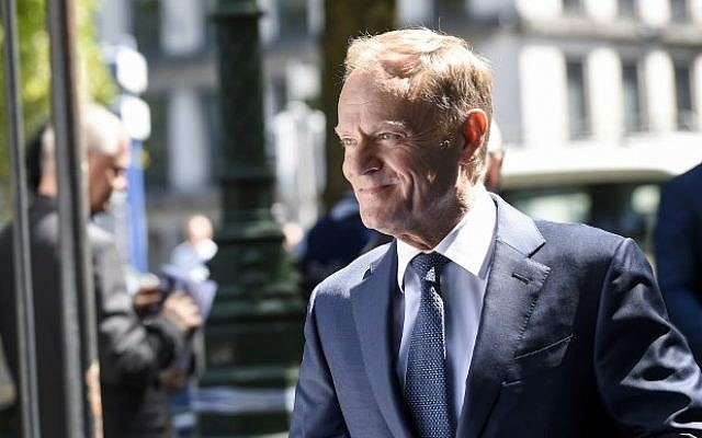 European Council President Donald Tusk in Brussels
