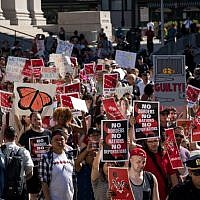 Activists march and rally against Immigration and Customs Enforcement (ICE) and the Trump administration's immigration policies, across the street from the ICE offices at Federal Plaza, June 29, 2018 in New York City. (Drew Angerer/Getty Images/AFP)