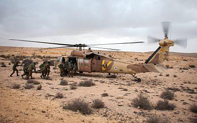 Illustrative. Israel Defense Forces holds an exercise in southern Israel on November 27, 2014. (Amit Shechter/Israel Defense Forces/Flickr)