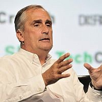 Then-Intel CEO Brian Krzanich speaks onstage during the TechCrunch Disrupt SF 2017 conference at Pier 48 in San Francisco on September 18, 2017. (Flickr/CC BY/Steve Jennings/Getty Images for TechCrunch)