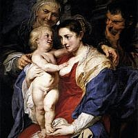 Illustrative: The Holy Family with St Anne by Rubens. One of the paintings in the Holy Family series was stolen in Italy by a man dressed as a rabbi (Wikimedia/Creative Commons)