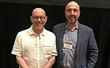 Lewis Aron, left, founding IARPP president, and Steven Kuchuck, the current president, at the group's 2018 conference in New York City. (Debra Nussbaum Cohen)