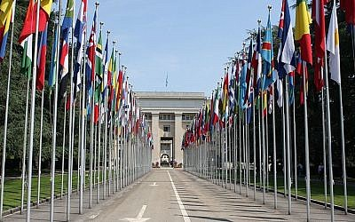 The Palace of Nations in Geneva, Switzerland, home of the UN Human Rights Council (CC BY-SA Henry Mühlpfordt/Wikpedia)