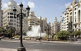A view of the Modernisme Plaza of the City Hall of Valencia on 17 July 2010.  (CC BY-SA Wikimedia commons/PMRMaeyaert)