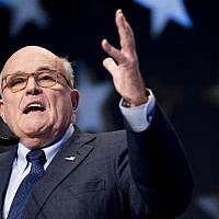 In this May 5, 2018, photo, Rudy Giuliani, an attorney for President Donald Trump, speaks at the Iran Freedom Convention for Human Rights and democracy in Washington. (AP Photo/Andrew Harnik)
