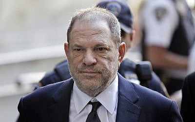 Harvey Weinstein arrives in court in New York