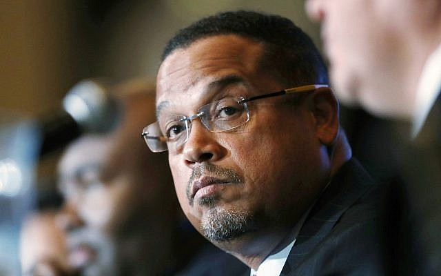 In this Dec. 2, 2016 file photo, US Rep. Keith Ellison, D-Minn., listens during a forum on the future of the Democratic Party, in Denver (AP Photo/David Zalubowski, File)