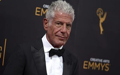In this Sept. 11, 2016 file photo, Anthony Bourdain arrives at the Creative Arts Emmy Awards at the Microsoft Theater in Los Angeles. Bourdain was found dead in his hotel room in France, Friday, June 8, 2018, while working on his CNN series on culinary traditions around the world. (Photo by Richard Shotwell/Invision/AP, File)