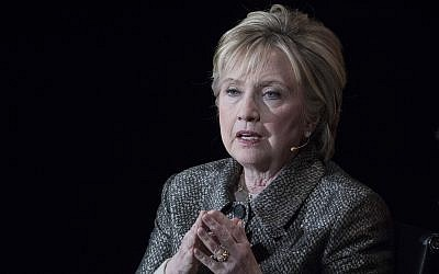 In this April 6, 2017, photo, former secretary of state Hillary Clinton speaks in New York. (AP Photo/Mary Altaffer)