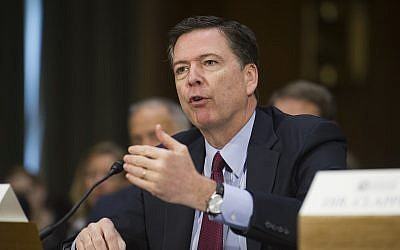 In this January 10, 2017 photo, then-FBI Director James Comey testifies on Capitol Hill in Washington. (AP Photo/Cliff Owen)